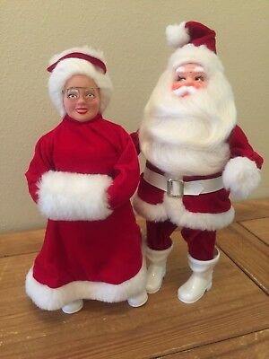 vintage Harold Gale Santa Claus & Mrs Claus SET store displays RARE great shape