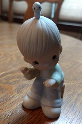 Enesco Precious Moments Figurine Lord, Keep My Life In Tune 1984, 12165 Butcher