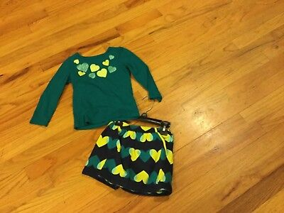 Girls Crazy 8 outfit size 2T long sleeve with hearts