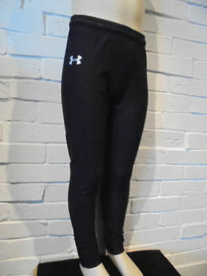 Girl's Under Armour Athletic Leggings Coldgear Youth SM, MD, LG Black Sport Play