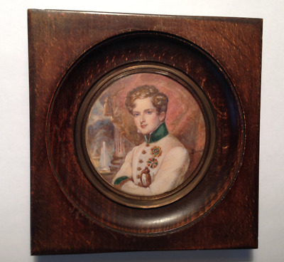 Antique French Hand Painted Miniature