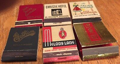 Vtg Matchbook Covers.lot Of 10  Hollywood, California