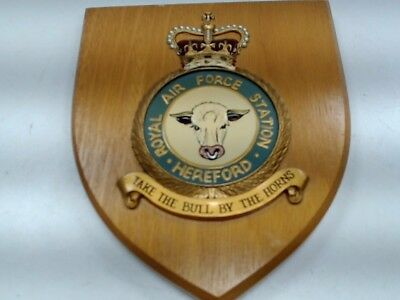 RAF Hereford Wall Plaque - Take the Bull By The Horns #357