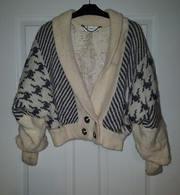 Vintage/retro/old School Belly Cardigan 1980's Style Made By Dino Valiano