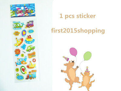 1pc New Stickers Airplane Craft Puffy Kid Scrapbooking Party Stickers Toys Gift