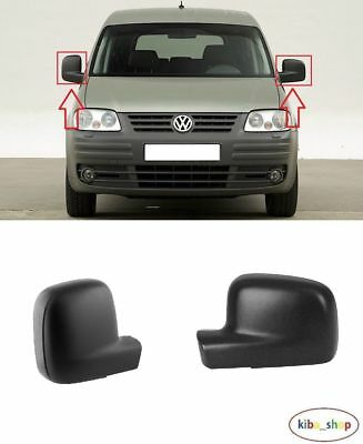 NEW GENUINE VW CADDY 04-16 TRANSPORTER 03-10 WING MIRROR BLACK COVER LEFT LHD