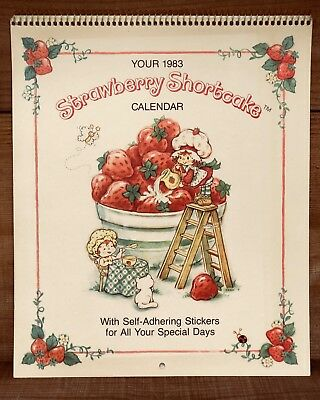 Vintage 1983 Strawberry Shortcake🍓 Calendar with Special Day Stickers