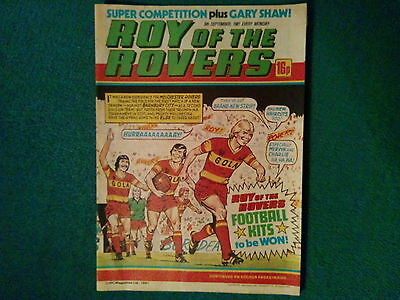 Roy Of The Rovers Comic Dated 5 September 1981