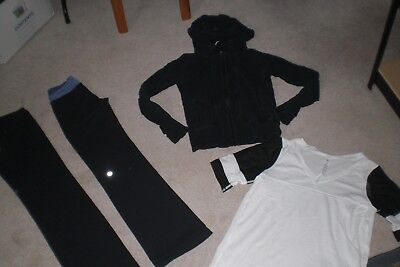 """SALE"" Lot of 2 Lululemon Pants, Hoodie and Rare Tee sz 4"