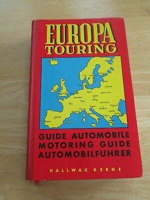 Europa Touring 1964 Automobile Tour Guide of Europe with Illustrations and Maps