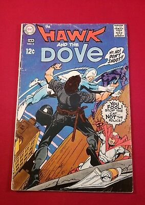 HAWK AND DOVE # 3 VERY GOOD= DC COMICS GIL KANE SILVER AGE 1969 3.5 right grade