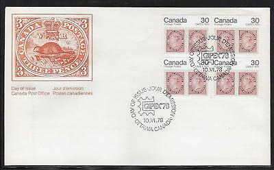 Canada Post OFDC 1978 CAPEX'78  .30¢ Block of 4, Sc. 755