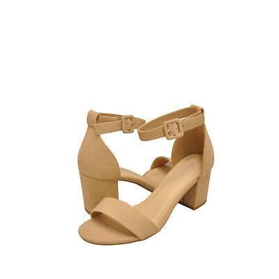 a3395c7c2adf Women s Shoes City Classified Cake S Open Toe Ankle Strap Heels Natural  New
