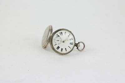 Antique Hallmarked SILVER Fusee Keywind Pocket Watch W. Wootsey Spares/Repairs