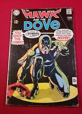 Hawk and Dove #5 DC1969 silver age 3.0 complete with staples attached throughout