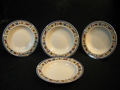 Set Of 4 Villeroy & Boch Rare Soup Bowls From The Troubadour Collection