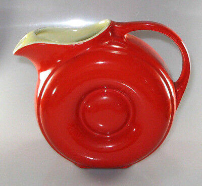 Rare by Hall Chinese Red Modern Jug Pitcher Mid Century US made No Reserve Price