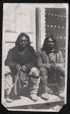 Vintage Photograph 1920's Native Indians Montreal Sherbrooke Canada Old Photo