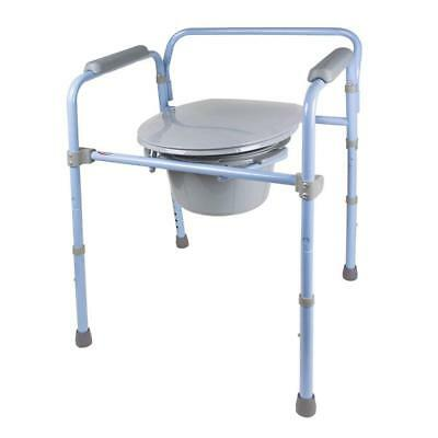 Carex Folding Commode, Portable Toilet For Adults and Bedside Commode Chair,
