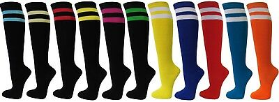 COUVER Ladies Girls 2 Striped Knee High Premium Casual Tube Cotton Socks(1 pair)