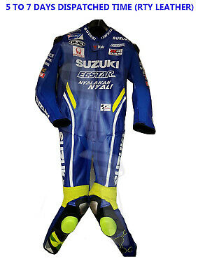 New Suzuki Ecstar Motogp 2018 Motorcycle Motorbike Leather Racing Suit All Color