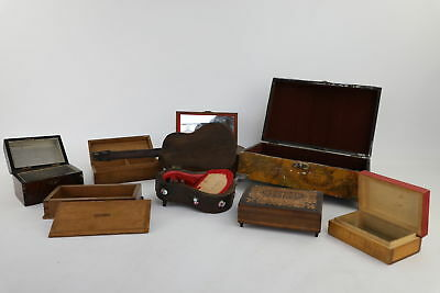 8 x Vintage Wooden Boxes Mixed Designs Inc. WORKING Musical