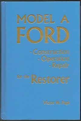 1928 Ford Model A Construction/Operation/Repairfor the Restorer - HC - Like New