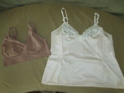 Vanity fair lingerie top peach size 36 and Hanes sports bra brown size XL