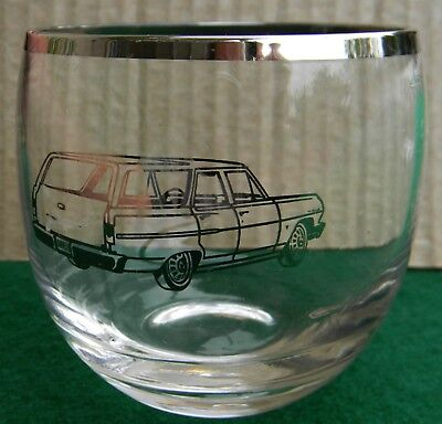 1960's Vintage Chevrolet Dealer Promotional Glass Chevelle Station Wagon