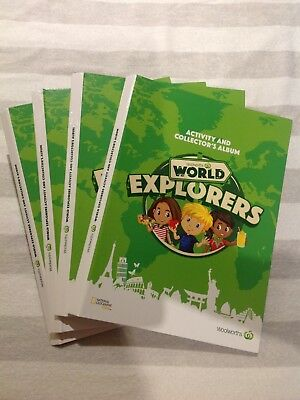 Woolworths World Explorers Collector's Album Brand new Bundle of 4