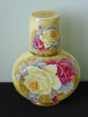 Nippon Reproduction Hand Painted Tumble Up Bedside Carafe & Tumbler Set - Lovely