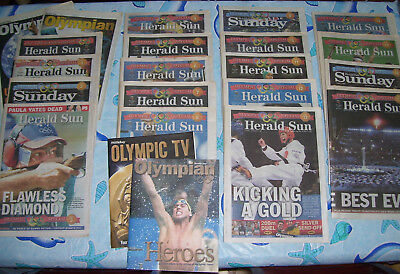 Vintage Old Herald Sun Sydney 2000 Olympic Games Newspapers Complete Set