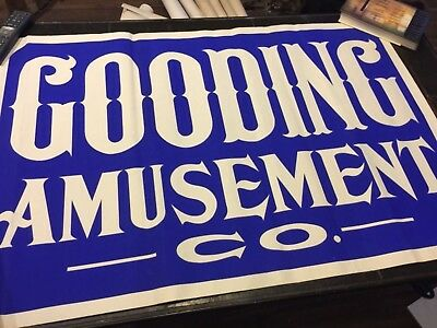 Gooding Amusement Co poster