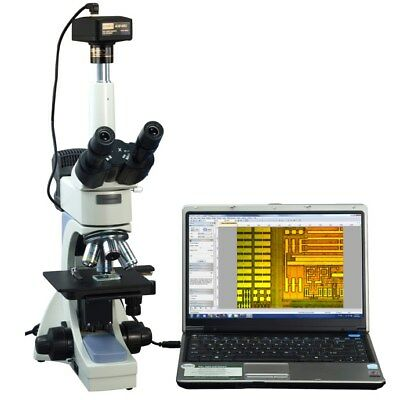 OMAX 40-2500X Infinity Trinocular Metallurgical Microscope+14MP Camera