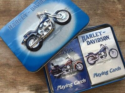 Harley-Davidson Springer Heritage Softail Playing Cards Collectible Tin 2001