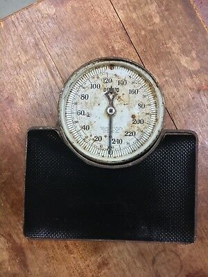 Vintage Bathroom Health Doctor 1917 Detecto Junior Stand On Weight Scale Works