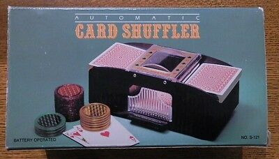 Card Shuffler Automatic Two Deck Battery Operated Poker Game Playing