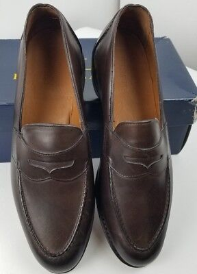 Ralph Lauren Polo by Allen Edmonds Singleton Burnished Brown Loafers 13 D