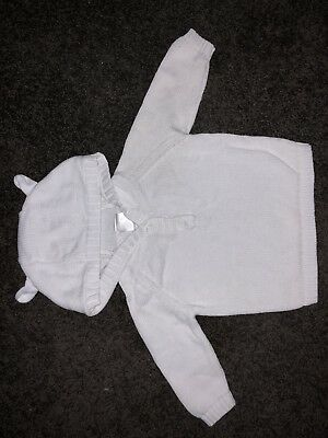 Seed Baby White Knit Hoodie
