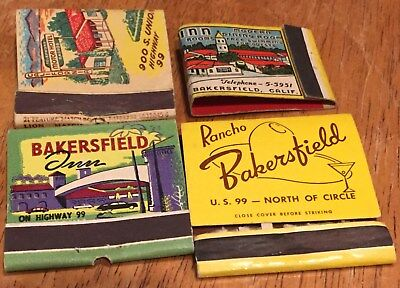 Vtg Matchbook Covers. Lot Of 7  Bakersfield, California
