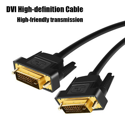 High Definition Video Cable Gold Plated Plug Male-Male DVI-D TO DVI-D 24+1 Cable
