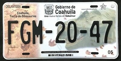 COAHUILA MEXICO License plate Expired Graphic Background T REX  DINO !!!