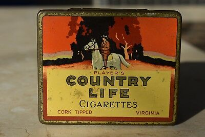 Players Country Life Corked Tipped Cigarette Tin