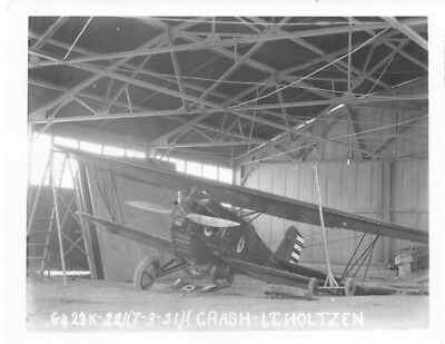 Curtiss P-1 Hawk Fighter Plane Crash Army Air Corps Original Vintage Photo