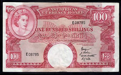 East Africa: East Africa Currency Board. 100 shillings. (1958-60). E 08785. (...