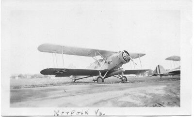 Navy Bi-Plane With Torpedo Original Vintage Photo