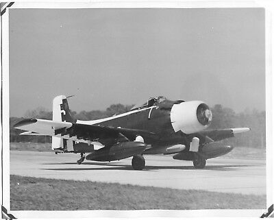 Douglas A-1 Skyraider Plane Navy Unusual Markings Original Large Vintage Photo