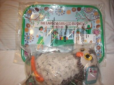 Girl Scout Little Brownie Bakers Hoot Owl Plush, Leader Tray 100 Years Cookies