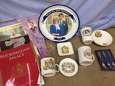 Queen Elizabeth Diana Charles King Coronation Items