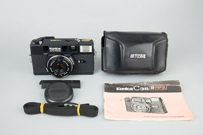 Konica C35 AF2 35mm Rangefinder Film Camera w/ Hexanon 38mm f/2.8 Lens